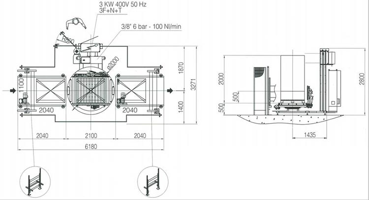 Technische Zeichnung A-Discovery   Technifol