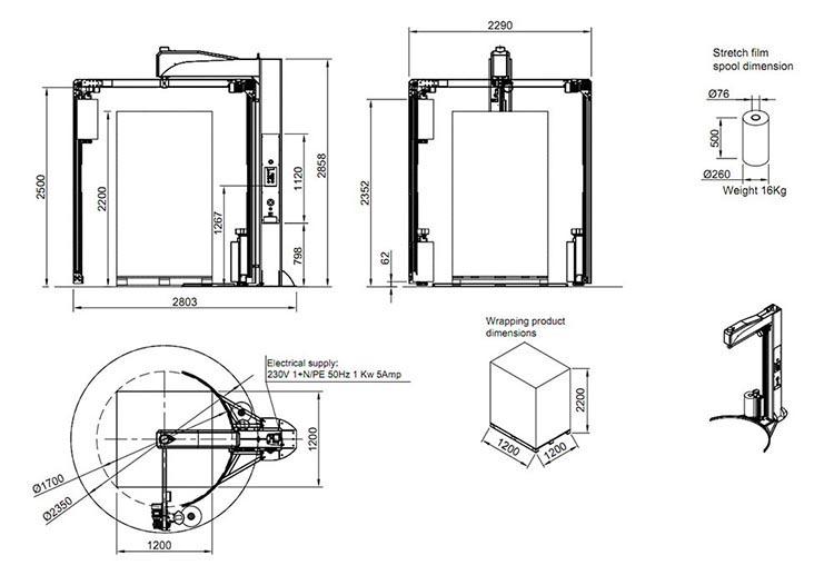 Technische Zeichnung Nimbly | Technifol