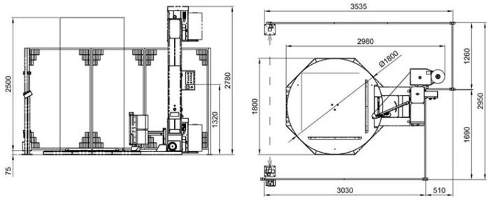 Technische Zeichnung Smartwrap | Technifol