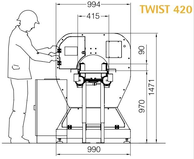 Technische Zeichnung 2 Twist Logistik | Technifol