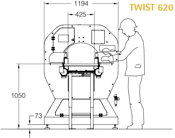 Technische Zeichnung 3 Twist Logistik | Technifol