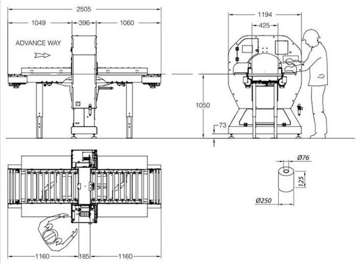 Technische Zeichnung Twist Logistik | Technifol
