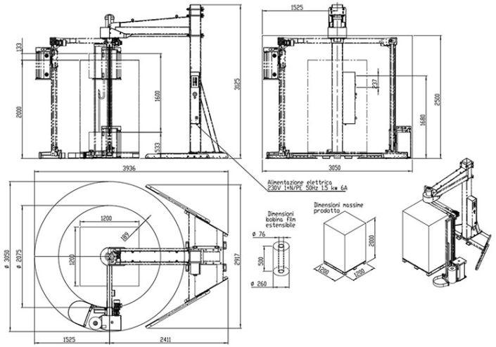 Technische Zeichnung Wingwrap | Technifol
