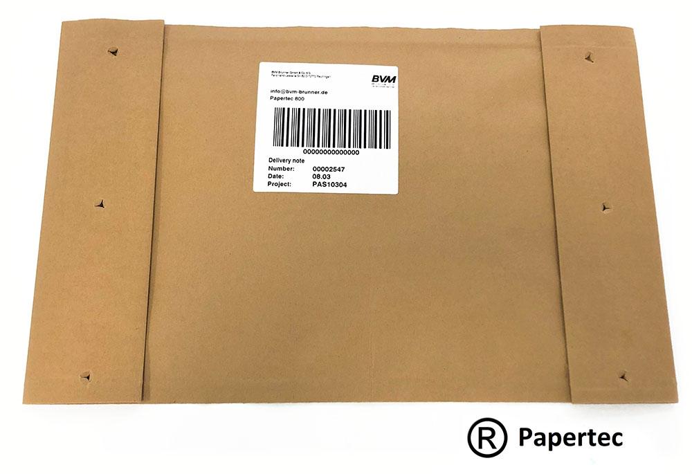 Packmusterbeispiel Papertec 800 | Technifol für BVM Brunner
